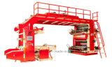Печатная машина Mulitcolor Flexography с печатной машиной винтовой зубчатой передачи Flexographic для вашего