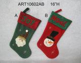 즐거운 성탄 산타클로스 눈사람 훈장 스타킹 선물