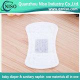 El anión Chip para toalla sanitaria bajo precio de fábrica China de materias primas femenino