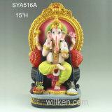 居間の装飾のための神の装飾の樹脂のGaneshaのヒンズー教の彫像