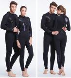 Juego de salto termal de la alineada de salto de Neroprene del negro del Wetsuit del diseño del OEM