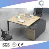 Populäres zwei gegenüberliegendes Sitzbüro Workstaion mit freier Partition (CAS-W31409)