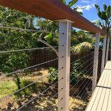 Railing кабеля балюстрады нержавеющей стали балкона в 7*7 проводе диаметра 4mm