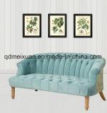 Mobilia mediterranea rurale del sofà del paese americano che ripristina il sofà antico di arte del doppio panno di legno solido di svago di modi nel salone (M-X3377)