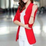 Blazer occasionnel de coton de blazer de femmes de modèle de procès de couche de dames pour des femmes