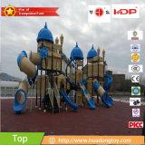 中国から成っている青いカラーの運動場の構造の外の子供のための屋外のプラスチックPlayset