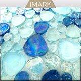 Carreaux de verre bleu irisé de galets pour piscine Mosaïque Mosaïque