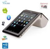 Terminal sin hilos móvil androide del pago 3G de Handhed con la impresora Ts-7002