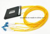 Optische Wdm Mux/Demux van de vezel 4CH Plastic Doos CWDM