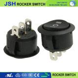 Jsh noir sur off sur l'interrupteur à bascule ronds avec 3 broche