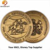 Дешевой выгравированные таможней античные золотые монетки плакировкой