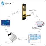 PVDのコーティングMIFAREのカードネットワーク電子ドアロック