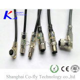 여성 방수 IP67 IP68 M12 LED 표시기에 의하여 주조되는 케이블 연결관