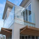 Балкон подкрашивал 12mm закаленный штуцер заплаты нержавеющей стали Railing Frameless стеклянный