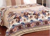 Commerce de gros 100% Polyester fleur imprimé de flanelle Couverture en laine polaire