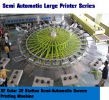 32 Station-halb automatische Bildschirm-Drucken-Maschine der Farben-32