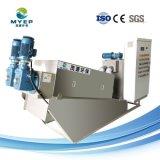 Matadero Stainless-Steel deshidratación de lodos de tratamiento de aguas residuales filtro prensa de tornillo