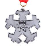 주문 금속 아연 합금 연약한 사기질 은메달