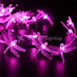 Dragonfly Solar Powered LED String Lights 6m 30 LEDs Waterproof Outdoor Lights for Garden Home Wedding Party