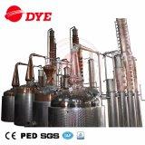 Equipo de cobre caliente de la destilación de la máquina de la destilería de la vodka del alcohol de la venta 1500L para la venta