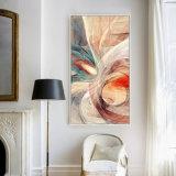 キャンバスの居間の壁のバックラムの油絵の抽象美術プリント