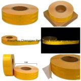 Bande r3fléchissante de véhicule élevé jaune de visibilité dans la largeur de la taille 10cm