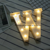 Alphapet iluminação decorativa até assinar cartas decoração de luzes de LED para casamento festa festival Holiday a ESG10399