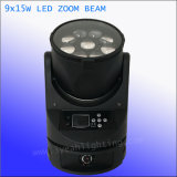 9*15W 4in1 zoom shot LED Beam and wash-out Moving Haed Light