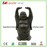 Polyresin Mini estátua de Buda com suporte de vela para decoração de casa