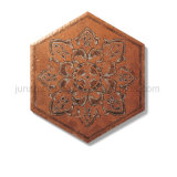 Artistieke Tegel 248X288mm van de Vloer van de Decoratie van de Vloer Ceramische Hexagon