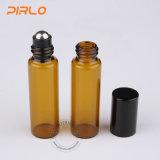 янтарный крен эфирного масла цвета 5ml на бутылке с роликом нержавеющей стали
