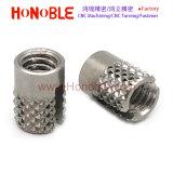 La prensa de acero inoxidable en el Diamante Knurl inserte las tuercas