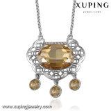 Collar-00294 Xuping Declaración de las mujeres estadounidenses de moda collar hecho con cristales de Swarovski