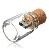 Lecteurs flash USB en verre de bouteille de dérive de mémoire de la bouteille USB