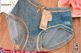 Diseño de Jeans Artificial coloridas señoras maduras mallas lencería Sexy Bragas transparentes