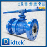 Valvola a sfera di galleggiamento di Wcb dell'acciaio di getto di BACCANO della prova Pn100 di Didtek 100%