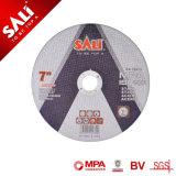 La qualità certa 7inch fa rispettare il disco del metallo di taglio dell'ossido di alluminio della resina