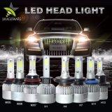 Ampoule lumineuse superbe Three-Sided H4 de phare du véhicule DEL de la vente en gros deux 8000lm 12V 24V H7 H11