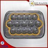 """5*7 """" luz de conducción de 45W LED, rectángulo, negro, cromo"""