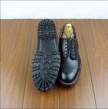 牛Hideの革ハンドメイドの安全靴の働き靴