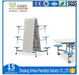 La fábrica de plástico alimentación de la mesa de comedor con 4 sillas para la escuela o la empresa Restaurante