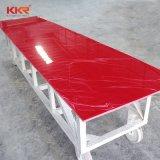 Superficie traslucida bianca del solido della resina del materiale da costruzione di Kkr