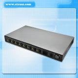 100%는 자동식 구내 교환 설비 System&VoIP 게이트웨이 (Etross-8888)에 보장했다 8닢의 포트 64 SIM 카드 GSM에 의하여 고정된 무선 끝