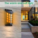 Luz accionada solar con./desc. auto impermeable al aire libre ligera solar de la noche del efecto de la llama que oscila para la decoración de la cerca de la yarda de la cubierta del patio del jardín