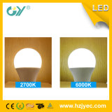 30000 horas de bulbo de PF>0.5 E27 8W LED con el tubo ligero