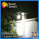 Intelligent 12W Capteur extérieur LED solaire Jardin Lumière de la rue de la route
