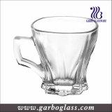 tazza di vetro del tè incisa Hotsell 6oz con la maniglia