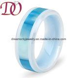 Incrustaciones personalizadas Diseño de shell /fibra de carbono &Koa cerámica madera Engaedment anillo anillo de boda