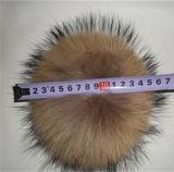 Bille de fourrure de POM Poms/trousseau de clés de dessus en métal de qualité