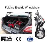 Fauteuil roulant se pliant électrique en aluminium léger pour des enfants